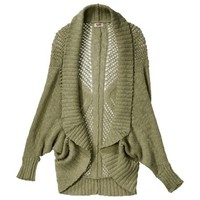 Mossimo Supply Co. Junior's Open Weave Cocoon Sweater - Assorted Colors