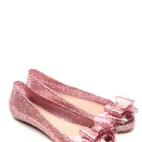Glaze Fuchsia Delilah Bow Glitter Jelly Flats @ Cicihot Flats Shoes online store:Women's Casual Flats,Sexy Flats,Black Flats,White Flats,Women's Casual Shoes,Summer Shoes,Discount Flats,Cheap Flats,Spring Shoes