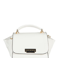 Foldover Mini Compact Handbag - White