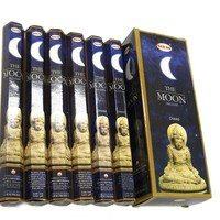 The Moon - Box of Six 20 Gram Tubes - HEM Incense