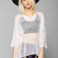 Ash Rain & Oak Crochet Beach Top - Urban Outfitters