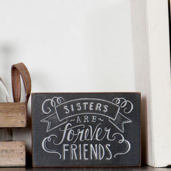 SISTERS ARE FOREVER FRIENDS POLKA DOT SMALL PLAQUE