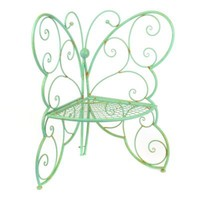 Patina Green Metal Outdoor Butterfly Chair | Kirkland's