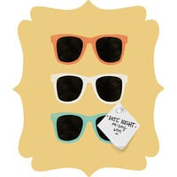 Allyson Johnson Summer Shades Quatrefoil Magnet Board