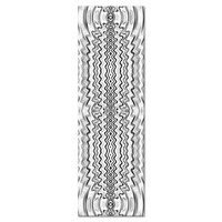 Energy Ripples Yoga Mat - White And Black> Energy Yoga Mats