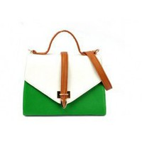 Wholesale 2012 new style retro fashion ladyâ??s handbags C-M05-062 green+white - Lovely Fashion