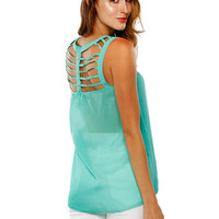 Papaya Clothing Online :: STRING YOKE CHIFFON TOP