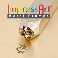 ImpressArt- 6mm, Hootie Design Stamp