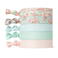 Pastel Floral Hair Tie Set