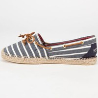 Sperry Top-Sider Katama Womens Espadrilles Navy Bretton  In Sizes