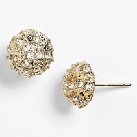 Rachel Rhinestone Dome Stud Earrings (Juniors)