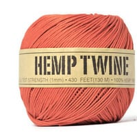 Natural 100% Hemp Fiber Cord . 20 Yards . Tangerine Orange . String . Gift Wrap Ties . Supplies . Gi | Luulla