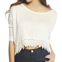 Oversized Crop Top | Wet Seal