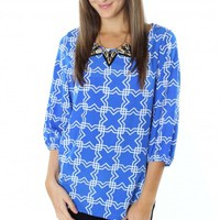 Royal Symmetry Blouse