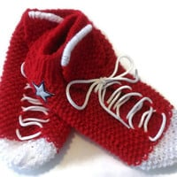 Handmade Custom Order Converse Slipper Socks