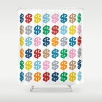 Colourful Money 48 Shower Curtain by Project M