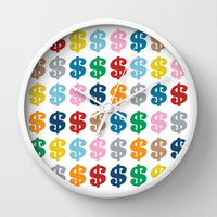 Colourful Money 48 Wall Clock by Project M