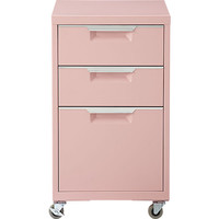 Tps Pink 3-drawer Filing Cabinet