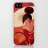 Sakura , Asian Geisha iPhone & iPod Case by LouJah