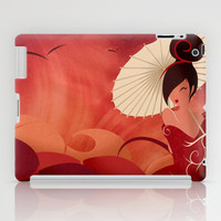 Sakura , Asian Geisha iPad Case by LouJah