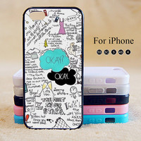 OKAY,OKAY,The Fault In Our Stars,iPhone 5 case,iPhone 5C Case,iPhone 5S Case, Phone case,iPhone 4 Case, iPhone 4S Case,Case