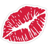 Kiss red lips
