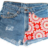 Red Medallion Cutoffs