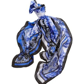 White House | Black Market Mixed-Print Square Scarf