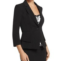 White House | Black Market Double Peplum Seasonless Jacket