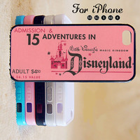 Disney,Disneyland,Ticket,iPhone 5 case,iPhone 5C Case,iPhone 5S Case, Phone case,iPhone 4 Case, iPhone 4S Case,Case