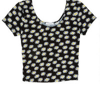 Allover Print Crop