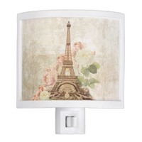 Paris Pink Rose Vintage Night Light