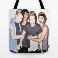 5sos slsp cover Tote Bag by kikabarros