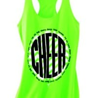 Product: Cheer Chevron Hot Green Loose Tank