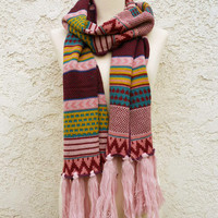 Knitted Navajo Fringe Scarf [4885] - $19.20 : Vintage Inspired Clothing & Affordable Dresses, deloom | Modern. Vintage. Crafted.