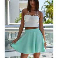 Leslie Mint Skater Skirt