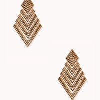 Antiqued Chevron Drop Earrings
