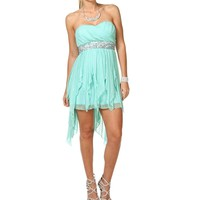 Aqua Glittery Hanky Dress