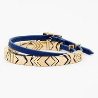 House of Harlow 1960 Chevron Station Leather Wrap Bracelet | Nordstrom