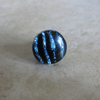 Dichroic Tie Tack, Lapel Pin, Mens Jewelry, Scarf Pin, Hat Pin, Womens Jewelry - Campbell - 038 -2