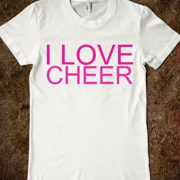 I LOVE CHEER JUNIORS FITTED TEE