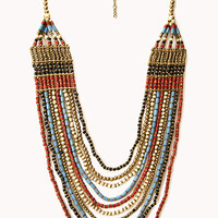 Worldly Layered Beaded Necklace