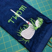 Personalized Golf Towel Premium Club and Ball in the Rough Great Gift | PinkCloudsAndBabyBlue - Accessories on ArtFire
