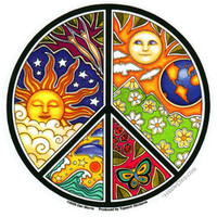 Psychedelic Peace Bumper Sticker on Sale for $2.99 at HippieShop.com