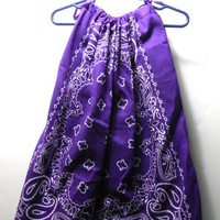 Purple Toddler Bandanna Dress