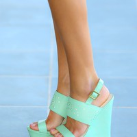 Sugar High Wedge-Mint