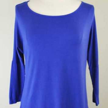 High-Low Scoop Neck Top
