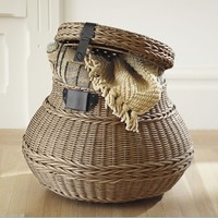 Jacquelyne Lidded Barrel Basket