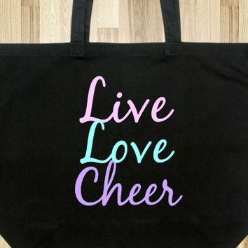 LIVE LOVE CHEER TOTE