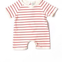 SoftBaby 100% Organic Cotton Striped Infant's Bodysuit